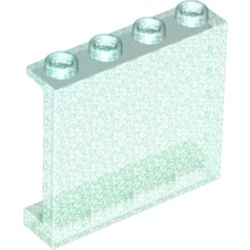LEGO part 60581 Panel 1 x 4 x 3 [Side Supports / Hollow Studs] in Transparent Blue with Opalescence/ Satin Trans-Light Blue