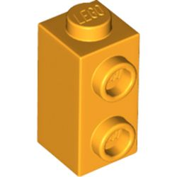 LEGO part 32952 Brick Special 1 x 1 x 1 2/3 with Studs on 1 Side in Flame Yellowish Orange/ Bright Light Orange