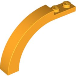 LEGO part 30935 Brick Arch 1 x 6 x 3 1/3 Curved Top in Flame Yellowish Orange/ Bright Light Orange