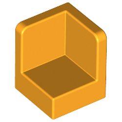 LEGO part 6231 Panel 1 x 1 x 1 Corner in Flame Yellowish Orange/ Bright Light Orange
