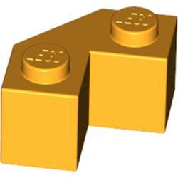 LEGO part 87620 Wedge 2 x 2 Facet in Flame Yellowish Orange/ Bright Light Orange