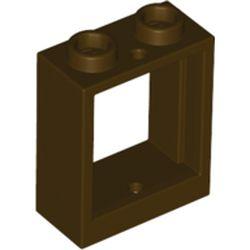 LEGO part 60592 Window 1 x 2 x 2 Flat Front in Dark Brown