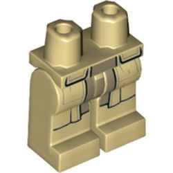 LEGO part 73622 Legs and Hips with Coattails Print in Brick Yellow/ Tan