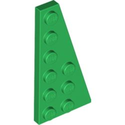LEGO part  Wedge Plate 6 x 3 Right in Dark Green/ Green