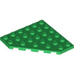 LEGO part  Wedge Plate 6 x 6 Cut Corner in Dark Green/ Green