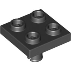 LEGO part  Plate Special 2 x 2 with Pin on Bottom in Black