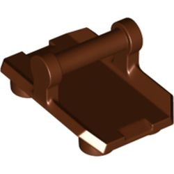 LEGO part  Minifig Shield Rectangular with 4 Studs in Reddish Brown