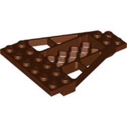 LEGO part 30036 Wedge Plate 8 x 6 x 2/3 with Grille in Reddish Brown