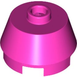 LEGO part  Brick Round 2 x 2 Truncated Cone in Bright Purple/ Dark Pink