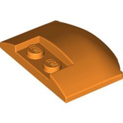 LEGO part 93604 Slope Curved 3 x 4 x 2/3 Triple Curved with 2 Sunk Studs in Bright Orange/ Orange