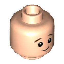 LEGO part 73846 MINI HEAD, NO. 3366 in Light Nougat