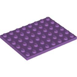 LEGO part 3036 Plate 6 x 8 in Medium Lavender