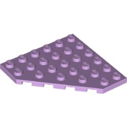 LEGO part 6106 Wedge Plate 6 x 6 Cut Corner in Lavender