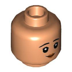 LEGO part 73876 MINI HEAD, NO. 3358 in Nougat