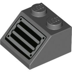 LEGO part 73908 Slope 45° 2 x 2 with Vent/Grate Print in Dark Stone Grey / Dark Bluish Gray
