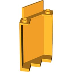 LEGO part 87421 Panel 3 x 3 x 6 Corner Wall without Bottom Indentations in Flame Yellowish Orange/ Bright Light Orange