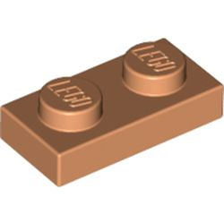 LEGO part 3023 Plate 1 x 2 in Nougat