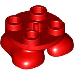 LEGO part 66858 Feet, 2 x 2 x 2/3 with 4 Studs on Top in Bright Red/ Red