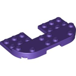 LEGO part 73832 Plate Round Corners 4 x 8 x 2/3 Half Circle with Reduced Knobs in Medium Lilac/ Dark Purple
