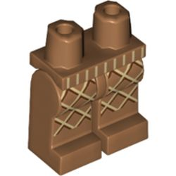 LEGO part 970c00pr2010 Legs and Hips with Ice Cream Waffle Cone Print in Medium Nougat