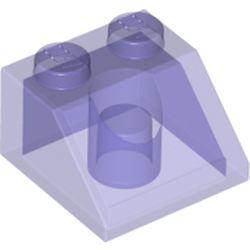 LEGO part 35277 Slope 45° 2 x 2 in Transparent Bright Bluish Violet/ Trans-Purple