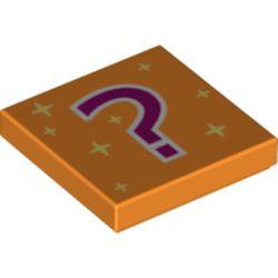 LEGO part 75457 FLAT TILE 2X2, NO. 455 in Bright Orange/ Orange
