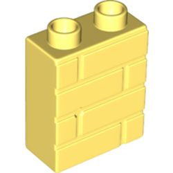 LEGO part 25550 Duplo Brick 1 x 2 x 2 Brick Effect in Cool Yellow/ Bright Light Yellow