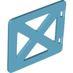 LEGO part 69897 Duplo Door / Gate / Window with 'X' Supports in Medium Azure