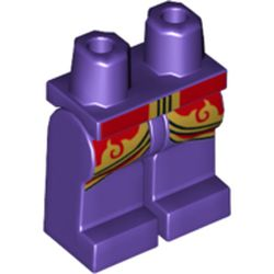 LEGO part  Legs and Hips with Red/Gold Trim print in Medium Lilac/ Dark Purple