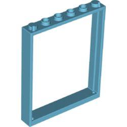 LEGO part 42205 Door Frame 1 x 6 x 6 in Medium Azure