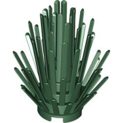 LEGO part  Plant, Bush 2 x 2 x 4 in Earth Green/ Dark Green