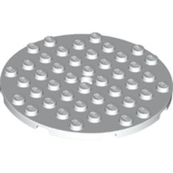 LEGO part 74611 Plate 8 x 8 Round in White