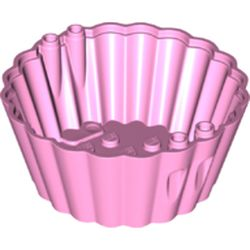 LEGO part 72024 Cup Cake Form 8 x 8 x 3 in Light Purple/ Bright Pink