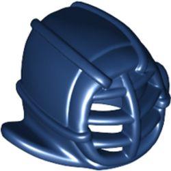 LEGO part 98130 Minifig Kendo Mask [PLAIN] in Earth Blue/ Dark Blue