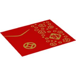 LEGO part 75562 BLANKET, FOLDED NO. 1 in Bright Red/ Red