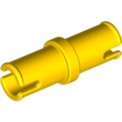 LEGO part 3673 Technic Pin without Friction Ridges Lengthwise in Bright Yellow/ Yellow