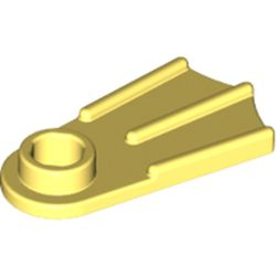 LEGO part 29161 Minifig Footwear Flipper [Thick] in Cool Yellow/ Bright Light Yellow