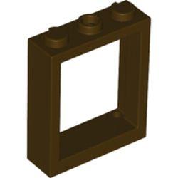 LEGO part 51239 Window Frame 1 x 3 x 3 in Dark Brown