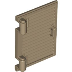 LEGO part 60800 Window 1 x 2 x 3 Shutter with Hinges and Handle in Sand Yellow/ Dark Tan