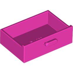 LEGO part 4536 Cupboard 2 x 3 Drawer in Bright Purple/ Dark Pink