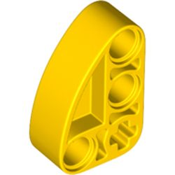 LEGO part 71708 Technic Beam 2 x 3 L-Shape with Quarter Ellipse Thick in Bright Yellow/ Yellow