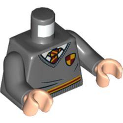 LEGO part 76382 MINI UPPER PART, NO. 5409 in Dark Stone Grey / Dark Bluish Gray