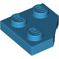 LEGO part 26601 Wedge Plate 2 x 2 Cut Corner in Dark Azure