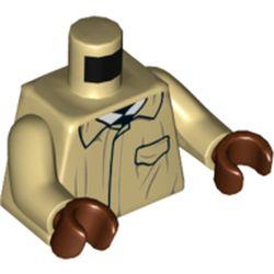 LEGO part 76382 MINI UPPER PART, NO. 5410 in Brick Yellow/ Tan