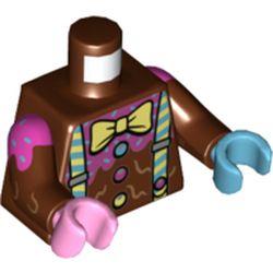 LEGO part 973pr5427c01 MINI UPPER PART, NO. 5427 in Reddish Brown