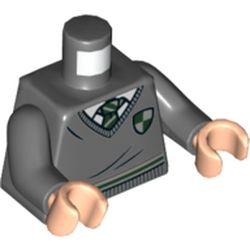 LEGO part 76382 MINI UPPER PART, NO. 5411 in Dark Stone Grey / Dark Bluish Gray