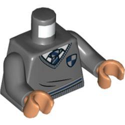 LEGO part 76382 MINI UPPER PART, NO. 5412 in Dark Stone Grey / Dark Bluish Gray