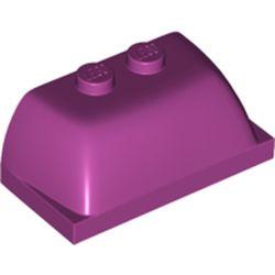 LEGO part 30841 Windscreen 2 x 4 x 1 1/3 [Plain] in Bright Reddish Violet/ Magenta