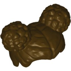 LEGO part  Minifig Hair with Two Round Buns [Plain] in Dark Brown