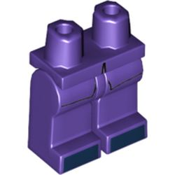 LEGO part  Legs and Hips with Coattails and Dark Blue Shoes print in Medium Lilac/ Dark Purple